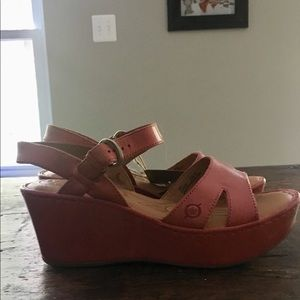 Born Coral Wedge Sandals